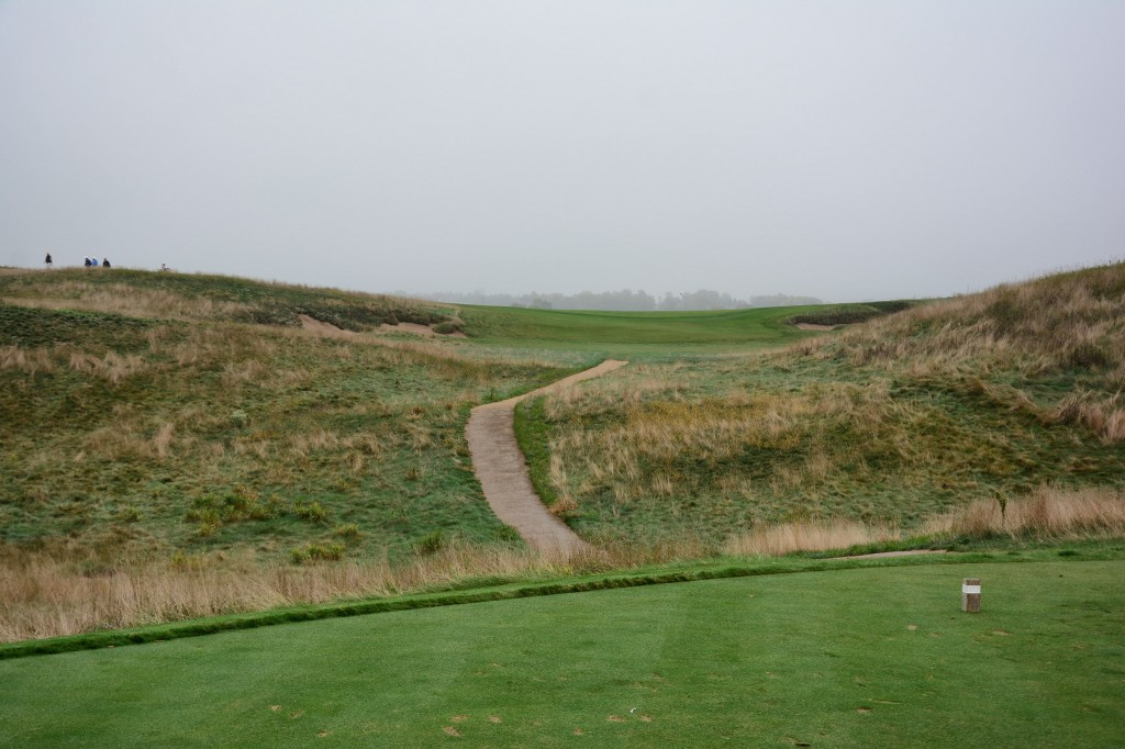 Par 3 6th hole at Erin Hills Golf Course in Hartford, Wisconsin