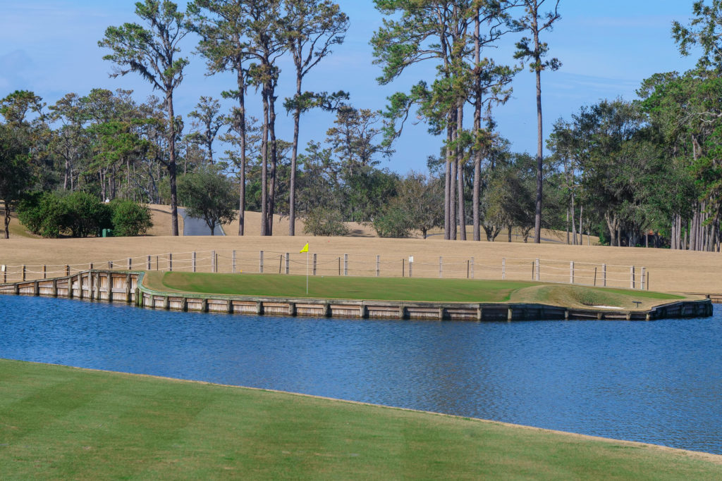 The 17th hole at TPC Sawgrass in Ponte Vedra Beach, Florida